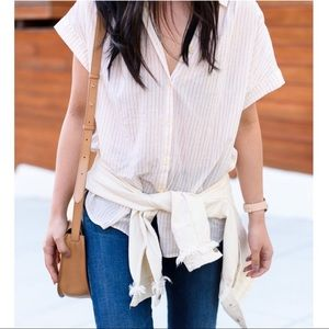 Madewell The Central Shirt In Lismore Stripe Small